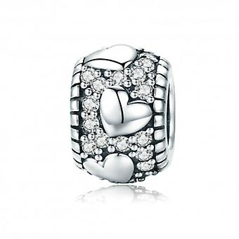 Sterling Silver Charm Dazzling Heart - 5694