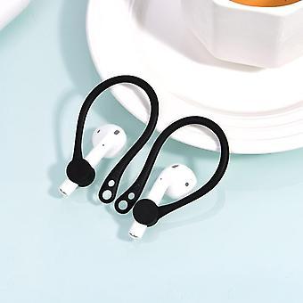For Apple AirPods 1/2 Black Anti-lost Headphones TPU Plastic Hook