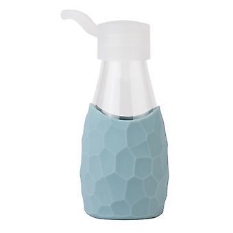 CREADYS lasipullo silikoni hihassa 250ml sininen