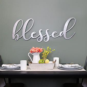 Oversized Blessed Metal Sign