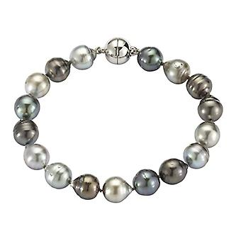 my Adriana pearl woman-bracelet from STELLA OF NIGHT 925 silver rodied tahiti-freshwater 19 cm - N19 - 1