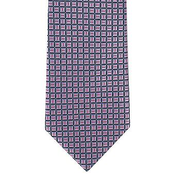 Michelsons of London Classic Grid Polyester Tie - Pink