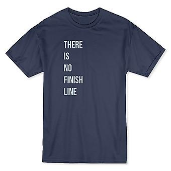 """There Is No Finish Line"" Right Pocket Quote Men's T-shirt"