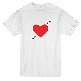 الأحمر السهم القلب لطيف الرجال الرسوم البيانية & ق تي شيرت