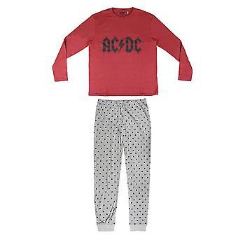 Women's AC/DC Logo Cuffed Pyjama Set