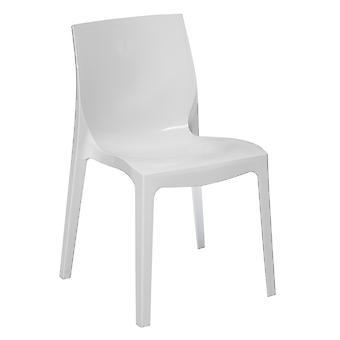 Sedia Ice Color Bianco in Polipropilene 52x50x81 cm