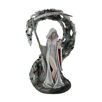 Life Blood by Anne Stokes Pale Lady Reaper Holding Scythe Statue 11 Inch