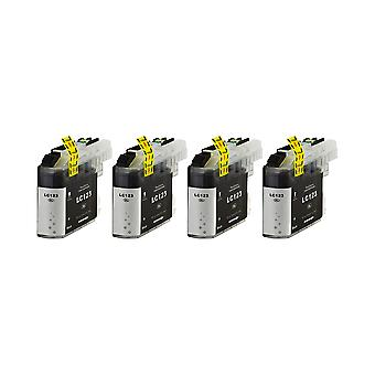 RudyTwos 4x Replacement for Brother LC-123BK Ink Unit Black Compatible with MFC-J6920DW, MFC-J6520DW, DCP-J4110DW, MFC-J4410DW, MFC-J470DW, MFC-J870DW, MFC-J4510DW, DCP-J752DW, DCP-J552DW, DCP-J132W,