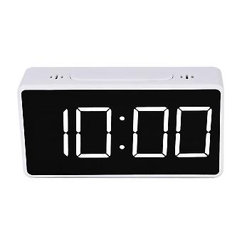 Digital Alarm Clock - White