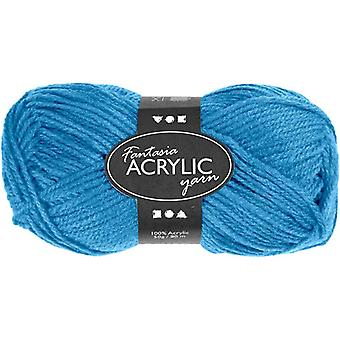 50g 3-Ply Turquoise Acrylic Yarn for Kids Knitting and Sewing Crafts