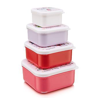 Tyrrell Katz Princess 4pc Square Snack Boxes