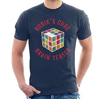 Rubik's Cube hersenen teaser mannen T-shirt