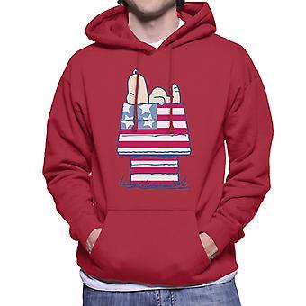 Orzeszki ziemne Snoopy Patriotic Kennel Męska bluza z kapturem