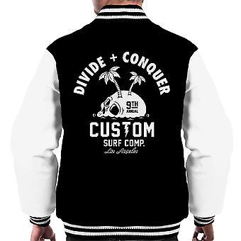 Teilen & erobern Benutzerdefinierte Surf Comp Männer's Varsity Jacke