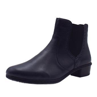 Rieker Y0771-15 Fabiola Fleece Lined Boots In Navy
