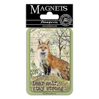 Stamperia Fox 8x5.5cm Magnet