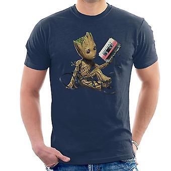 Marvel Guardians Of The Galaxy Vol 2 Cassette Tape Men's T-Shirt