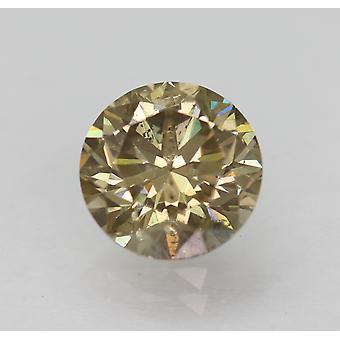 Cert 1.53 カラット ブラウン イエロー VS2 ラウンド ブリリアント ナチュラル ルーズ ダイヤモンド 7.17mm