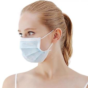 Disposable 3-layers non-woven face masks 100pcs