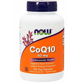 Now Foods, CoQ10, 60 mg, 180 Veg Capsules