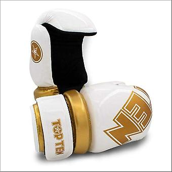 Top ten glossy block pointfighter gloves white/gold