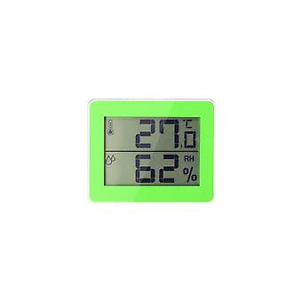 Household Digital Thermometer and Hygrometer Green White