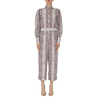 Zimmermann 9057urladbonsnk Women's Grey Silk Jumpsuit