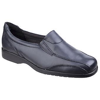 Amblers women's merton ladies slip-on shoe black 20291