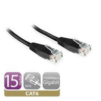 Ewent EW9534 netwerkkabel 15 m Cat6 U/UTP (UTP) Zwart