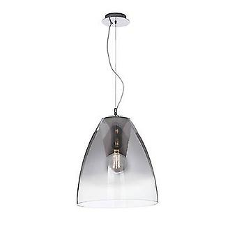 1 Light Dome Soffitto Ciondolo Chrome, E27