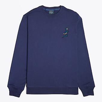PS Paul Smith  - Embroidered 'Dino' Sweatshirt - Blue