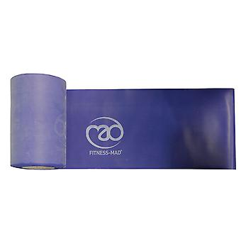 fitness mad blue resistance band roll 15cm x 15m medium resistance