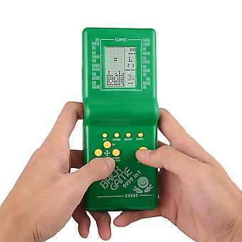 Retro Electronic Tetris Brick, Classic Handheld Pocket Game Machine