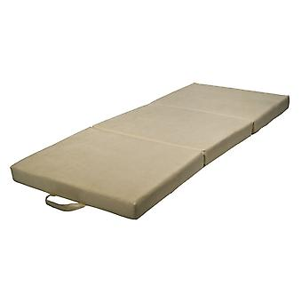 Foldable mattress guest mattress 200x80x10 cm off white