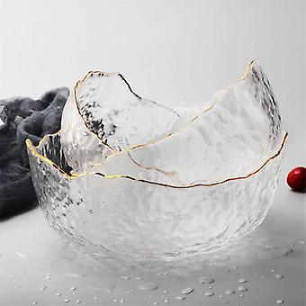 Irregular Large High Temperature Resistant Glass Dessert Bowl, Salad Bowl And
