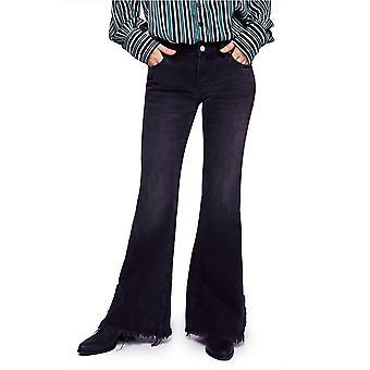Free People | Baumwolle Vintage-inspirierte ausgefranste Flared Jeans