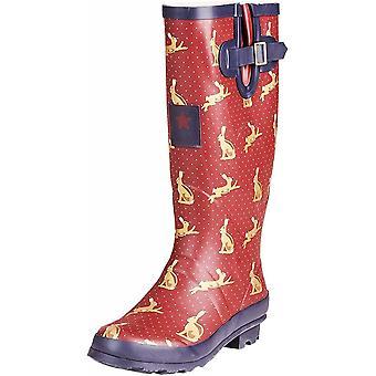 Onlineshoe Funky Flat Wellie Wellington Festival Rain Boots