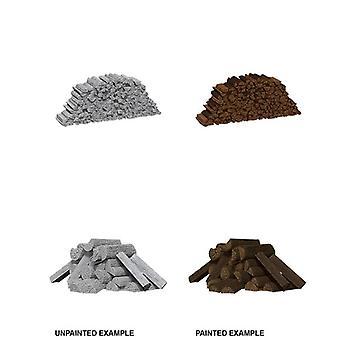 Wizkids Deep Cuts Unpainted Miniatures Piles of Wood (Pack of 6)