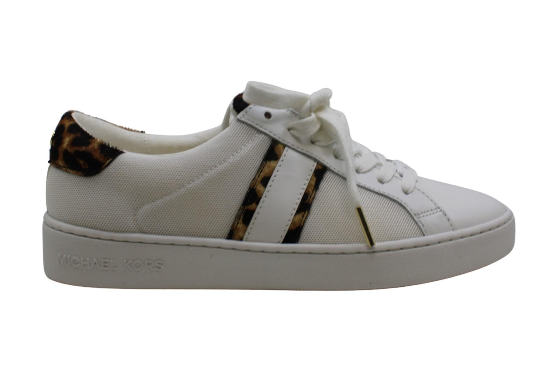 Michael Michael Kors Irving Stripe Lace-Up Optic White 7.5 M