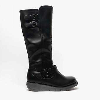 Heavenly Feet Erica Ladies Tall Boots Black