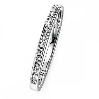عناصر الذهب عناصر 9ct الذهب الأبيض يمهد مجموعة خاتم الماس GR512