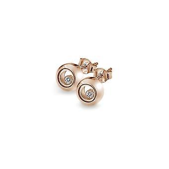 Anais diamantes calientes Anais oro rosa chapado en pendientes círculo aE016