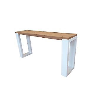 Wood4you - Side table enkel Roasted wood 170Lx78HX38D cm wit