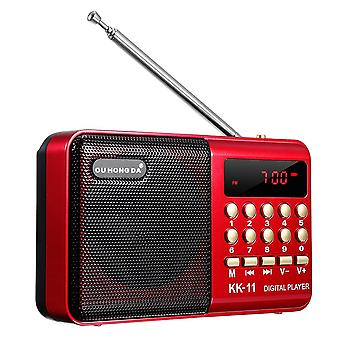 3w Mini  Portable Bluetooth Speaker Radio With Antenna Usb Module -220 V