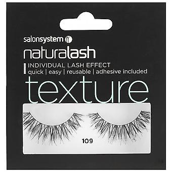 Salon System  Naturalash - Texture - No 109 Reusable Eyelashes - (adhesive Included)
