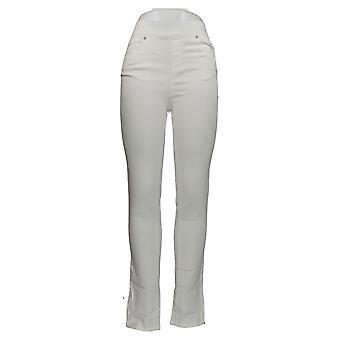 Martha Stewart Mujeres's Jeans Faux Fly W/ Tobillo Cremallera Blanco A351438