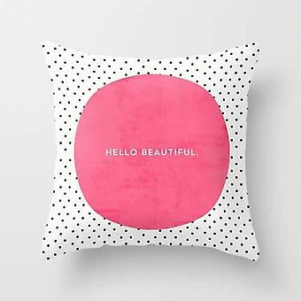 Hello Beautiful - Pillow Cover