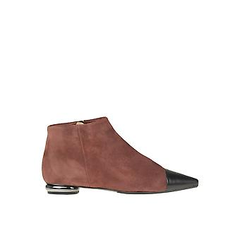 Anna Baiguera Ezgl238026 Women's Brown Suede Ankle Boots