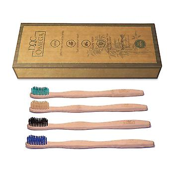 Bamboo Toothbrush Medium Bristle And Travel Case
