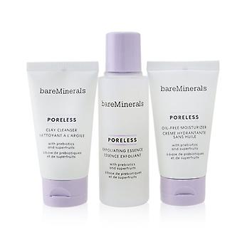 Poreless At Any Age Starter Kit: Clay Cleanser 30ml+ Exfoliating Essence 50ml+ Oil-free Moisturizer 30ml - 3pcs